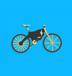electric bike with black and yellow color e-bike vector image