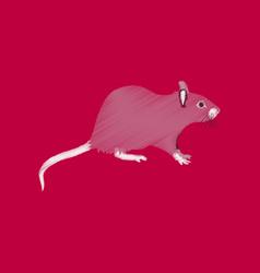Flat shading style icon rat vector