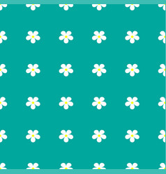 Flower pattern on a turquoise background vector
