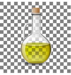 glass bottle of of olive oil vector image