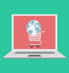 Global online shopping concept vector image