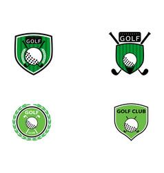 Golf logo template icon vector