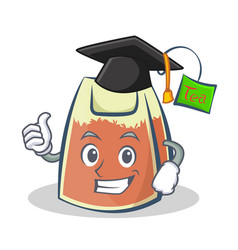 Graduation tea bag character cartoon art vector
