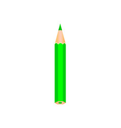 green color wooden pencil vector image