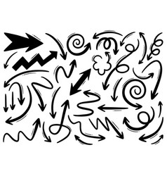 hand drawn doodle design elements drawn vector image