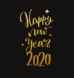 happy new year 2020 handwritten lettering vector image