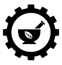 herbal industry sign icon vector image