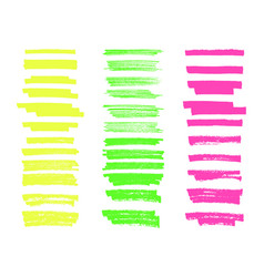 highlighter brush lines hand drawing painting vector image