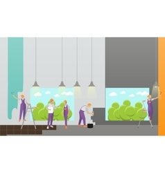 Home interior and room repair banner vector image