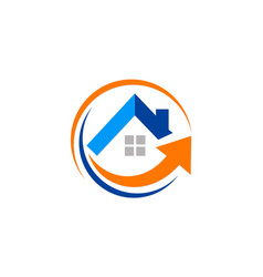 house arrow realty business logo vector image