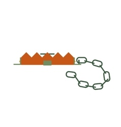 Hunting trap icon vector image