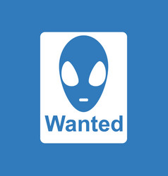 Icon wanted alien vector