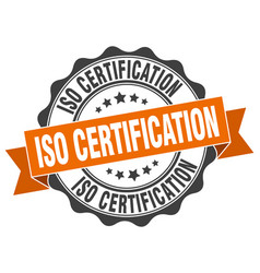 Iso certification stamp sign seal vector