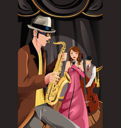 Jazz music band vector
