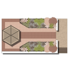 Landscaping Patio Area Vector ...