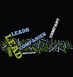 Lead companies features to consider text vector
