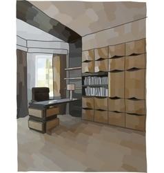 Luxury cabinet interior vector
