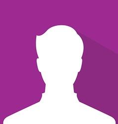 Male avatar profile picture purple member vector