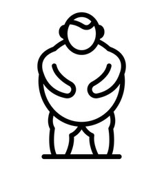 Man obesity icon outline style vector