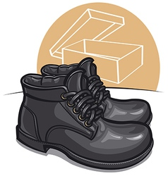 men boots vector image