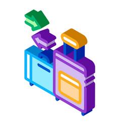 Migration emigration baggage icon vector