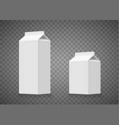 milk or juice cardboard white packaging vector image