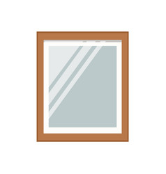 Mirror frame interior icon vector