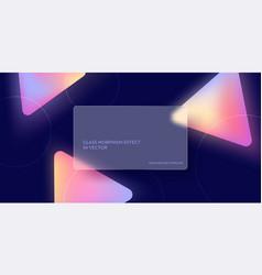 modern glass morphism fluid gradient background vector image