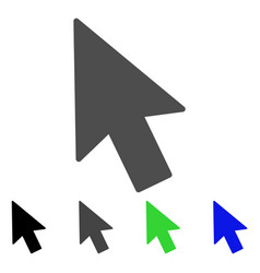 mouse cursor flat icon vector image