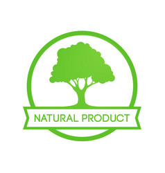 natural farm product - round emblem vector image
