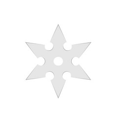 Ninja star throwing shuriken weapon japanese vector