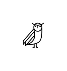 owl animal icon vector image