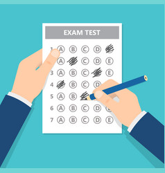 passing exam test vector image