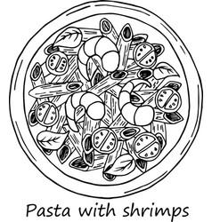 pasta in cartoon style vector image