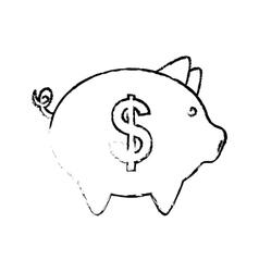 Piggy savings money vector
