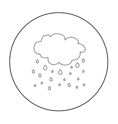 Rain icon in outline style isolated on white vector