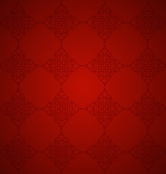 Red background with patterns vector image