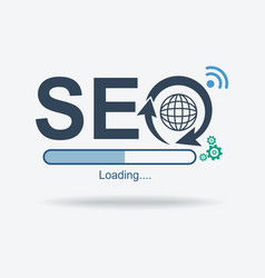 Seo sign logo search engine optimization symbol vector