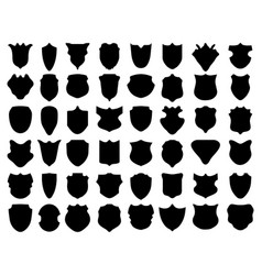 silhouettes shields vector image