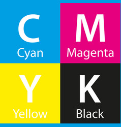 simple cmyk color sample with color name vector image