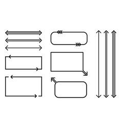 speech bubbles and arrows outline set vector image