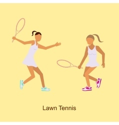 Sport people activities icon Lawn Tennis i vector