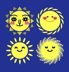 sun sets vector image