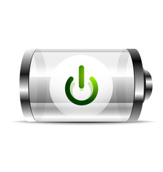 Techno futuristic start power button vector