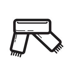thin line scarf icon vector image
