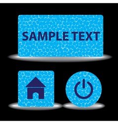 Water texture banners eps10 vector