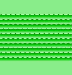 waves - abstract green vector image