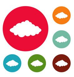 weather forecast icons circle set vector image