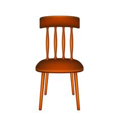 Wooden chair in retro design vector