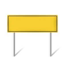 Yellow blank traffic sign vector